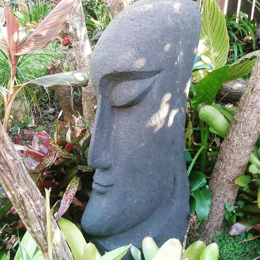Example of garden art in the form of a sculpture
