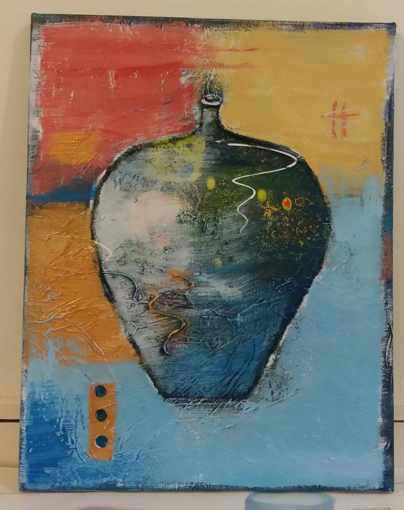 Ellen Eskildsen Abstract Art Vessel
